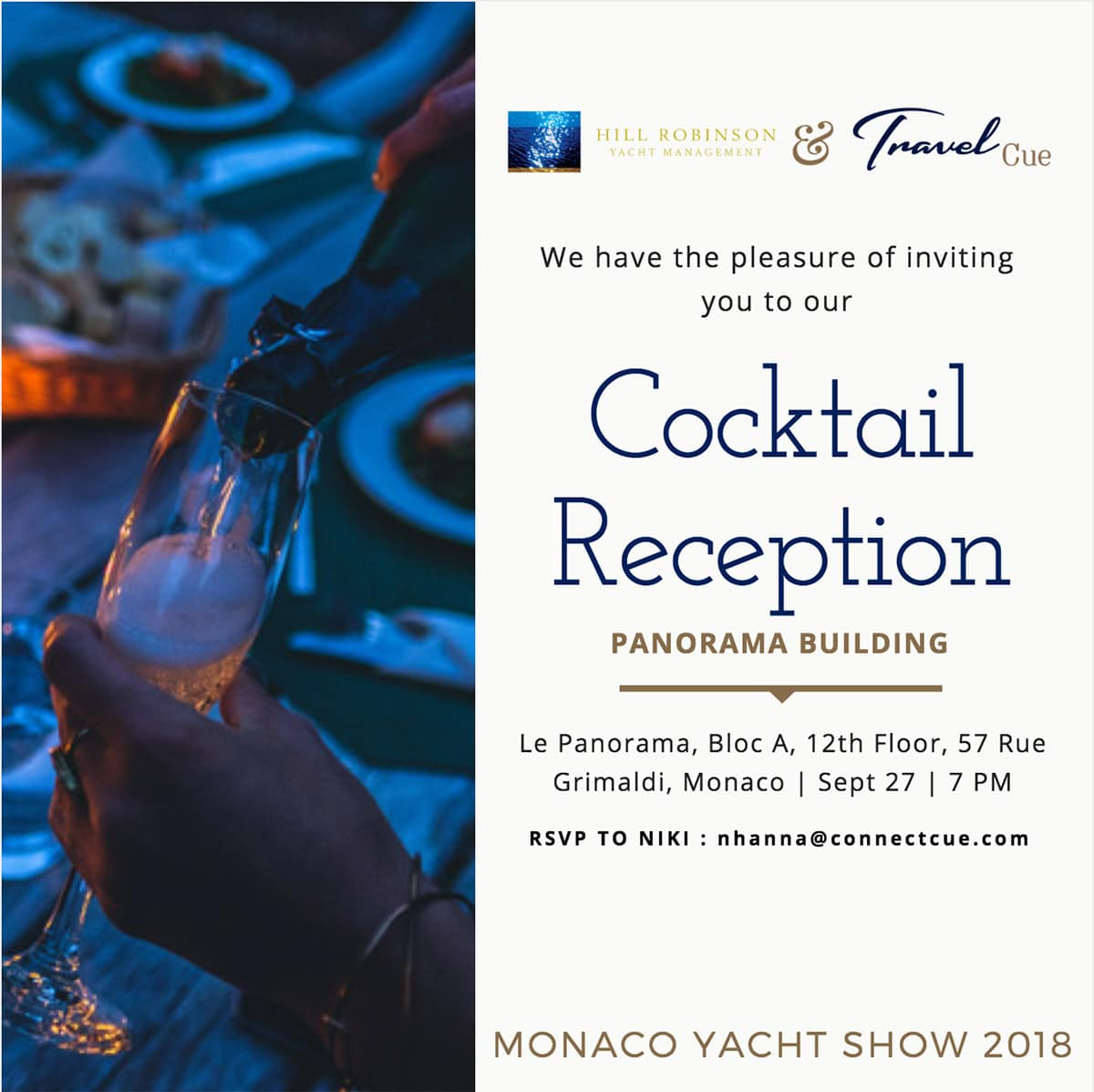 Monaco Yacht Show Cocktail Reception